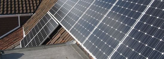 on roof in roof ground mount PV tile flat roof